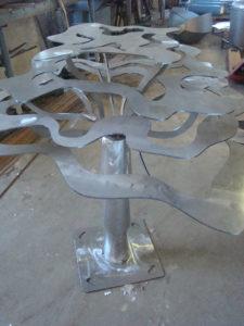 Structure en fer Déco tol d'un baobab